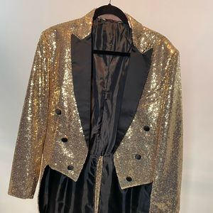 Other - Gold Sequin Party Blazer